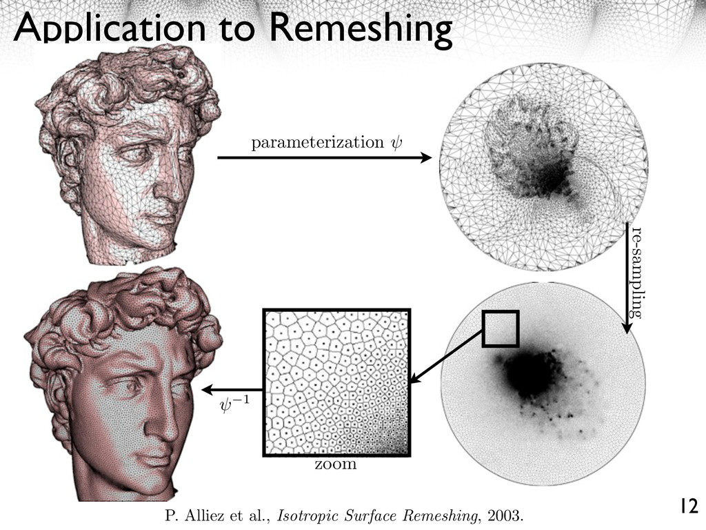 Application to Remeshing 12 parameterization 1 ...