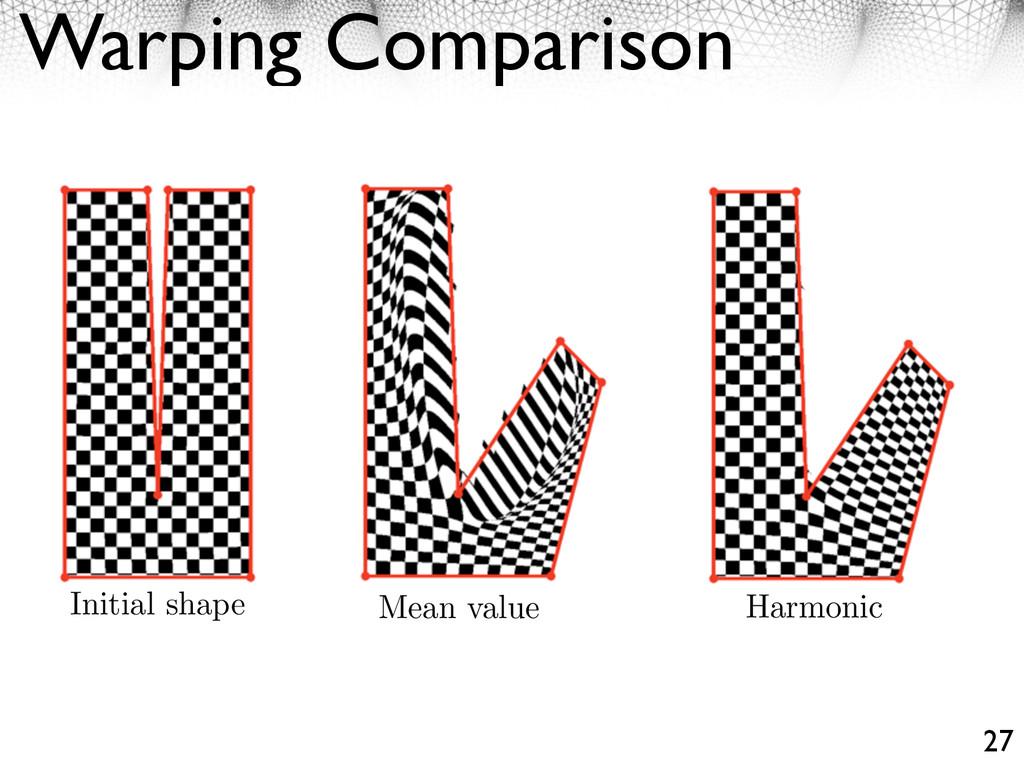 Warping Comparison 27 Mean value Harmonic Initi...