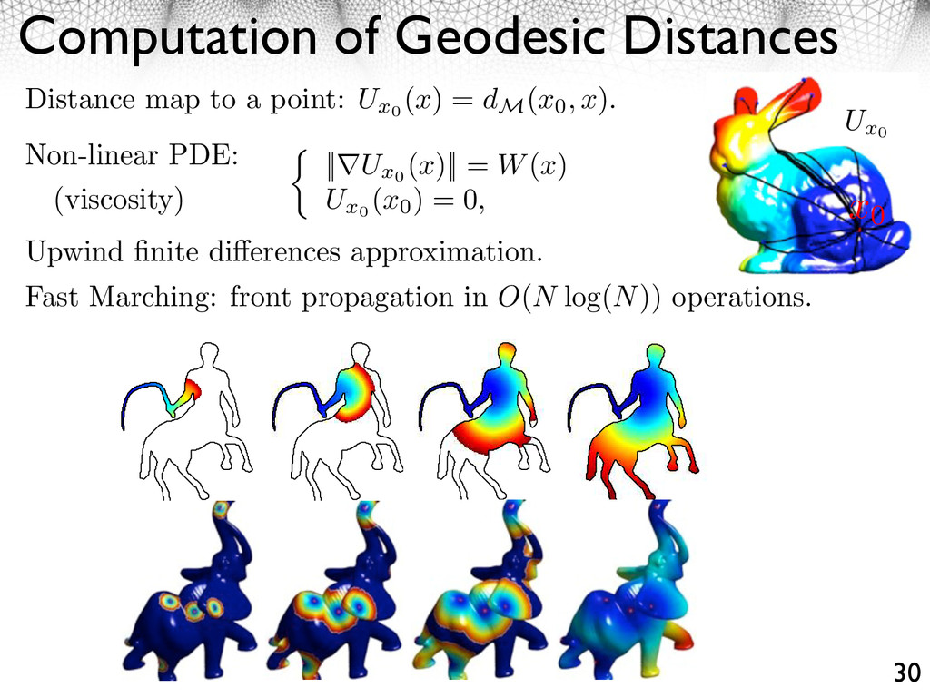 Computation of Geodesic Distances 30 Non-linear...