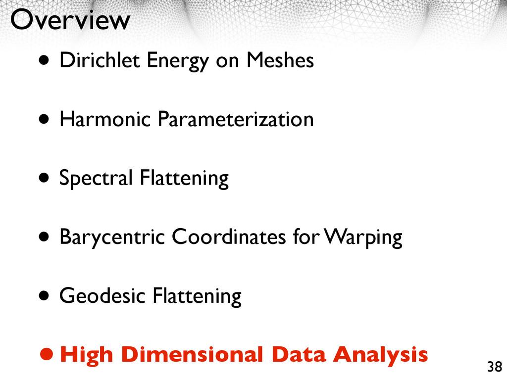 Overview • Dirichlet Energy on Meshes • Harmoni...