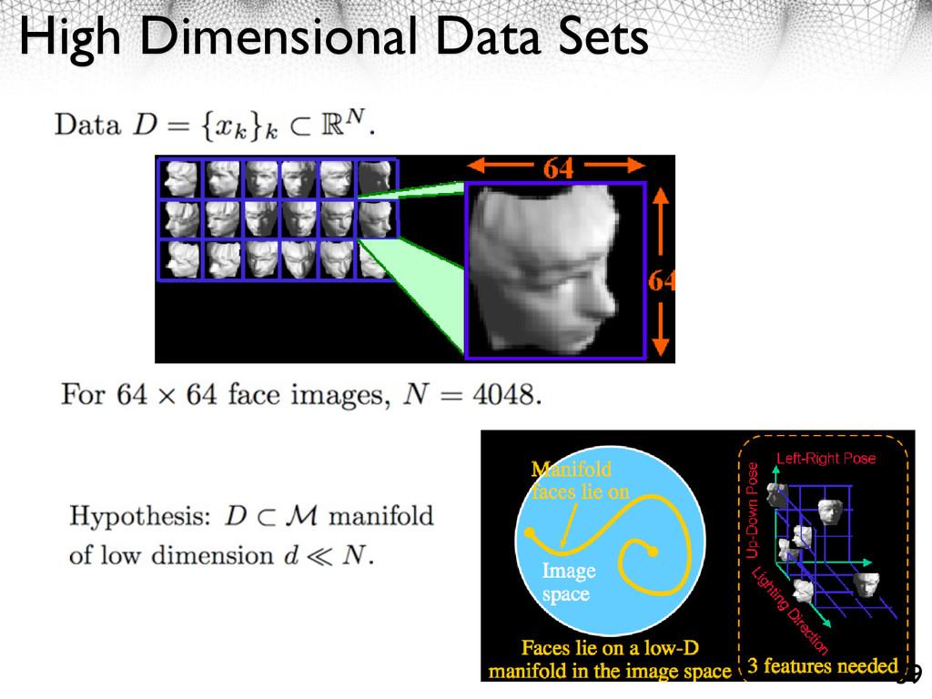 High Dimensional Data Sets 39