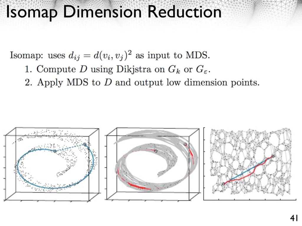 Isomap Dimension Reduction 41