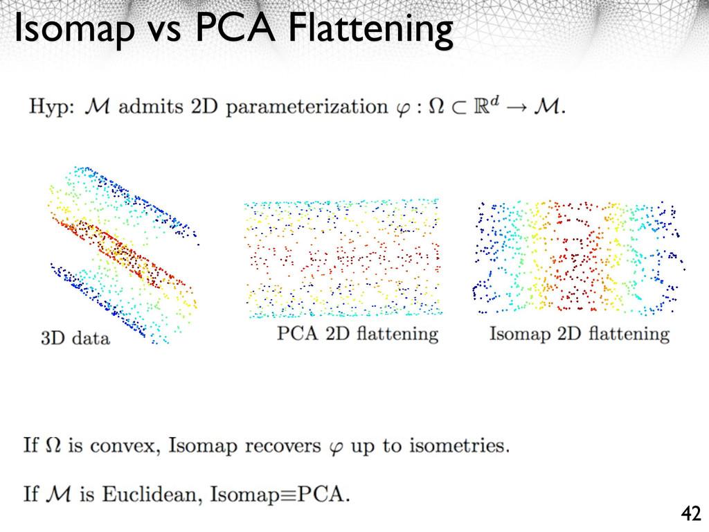 Isomap vs PCA Flattening 42