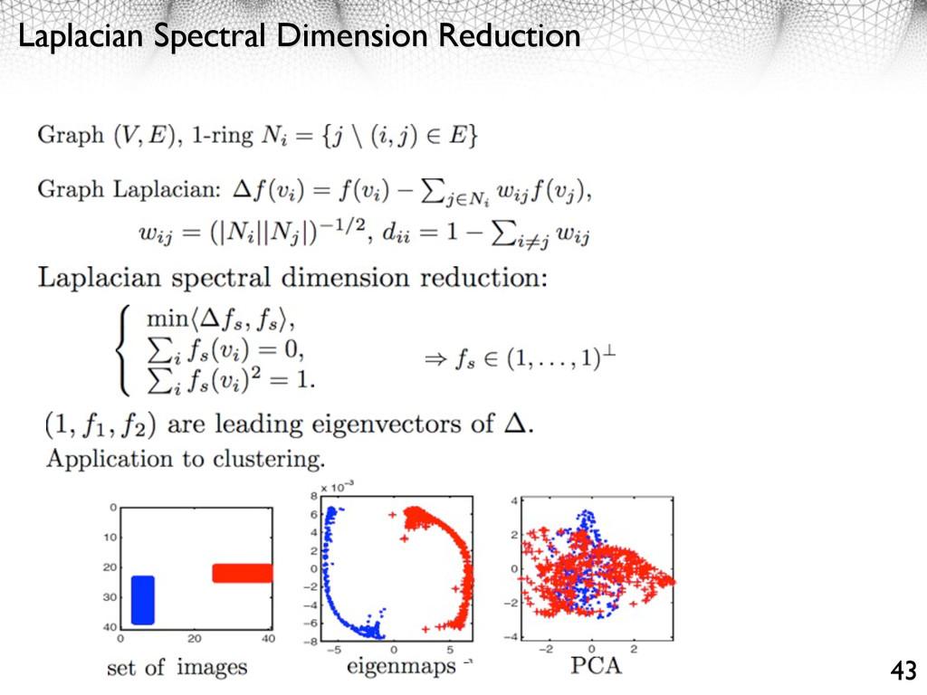 Laplacian Spectral Dimension Reduction 43
