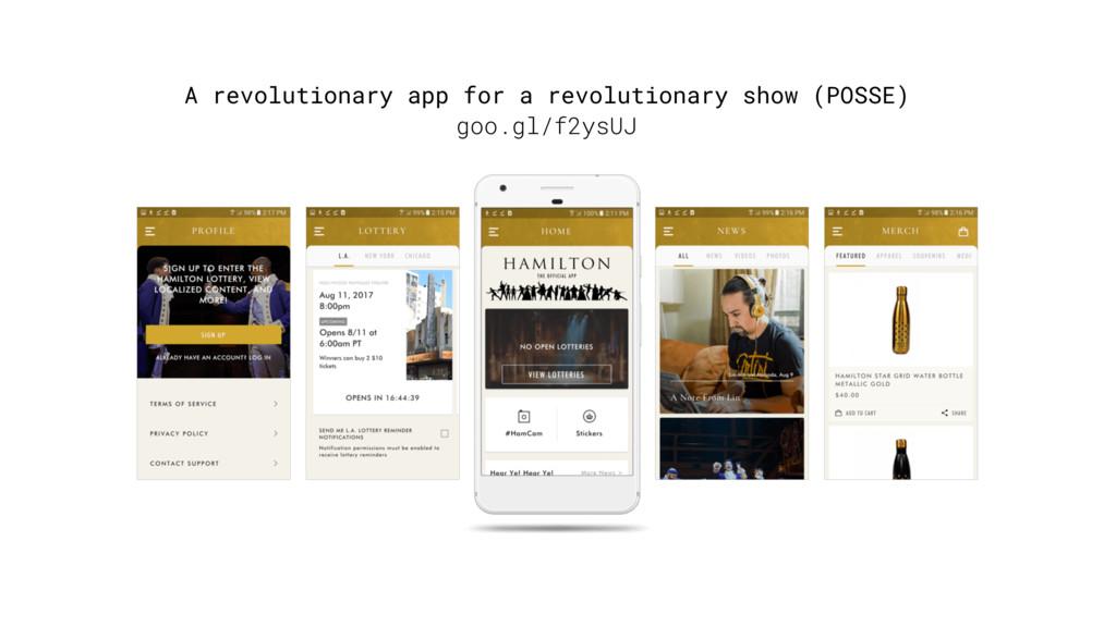 A revolutionary app for a revolutionary show (P...