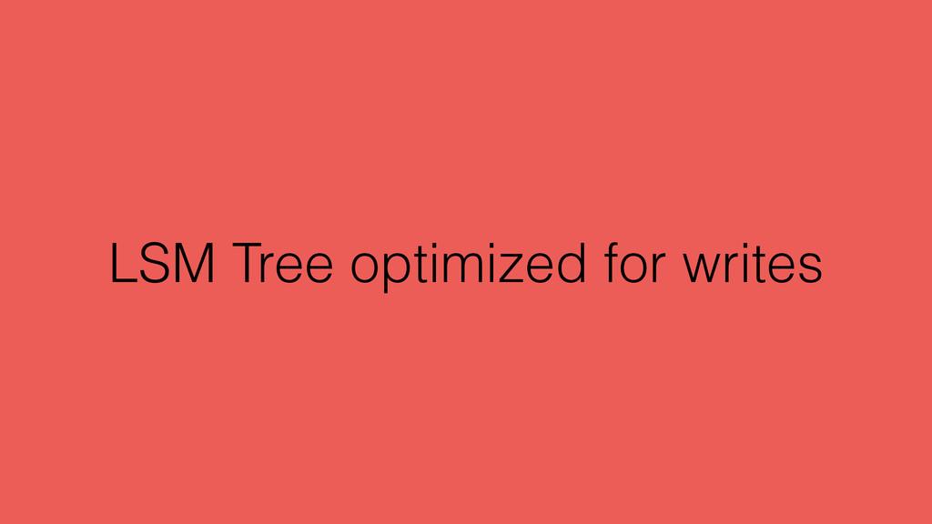 LSM Tree optimized for writes