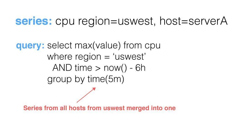 series: cpu region=uswest, host=serverA query: ...