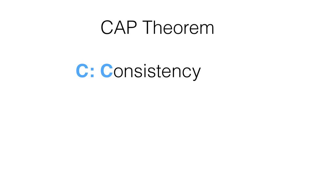 CAP Theorem C: Consistency