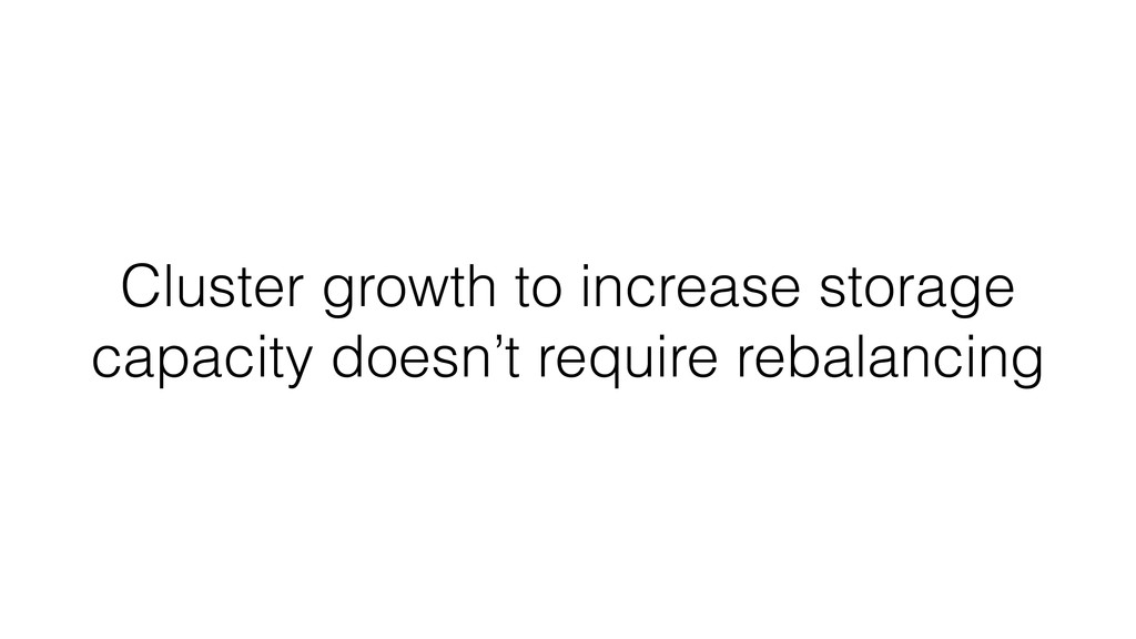 Cluster growth to increase storage capacity doe...