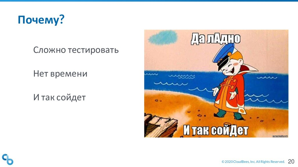 © 2020 CloudBees, Inc. All Rights Reserved. Поч...