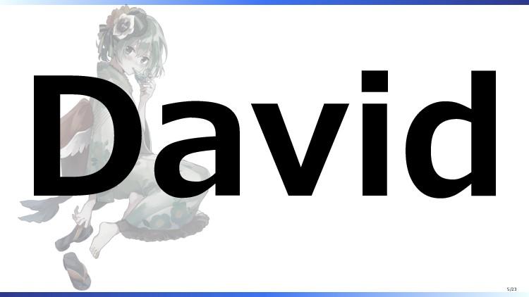 David 5/23