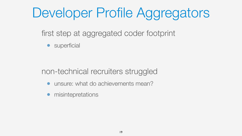 Developer Profile Aggregators first step at aggre...