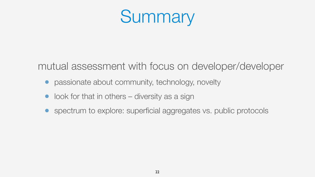 Summary mutual assessment with focus on develop...