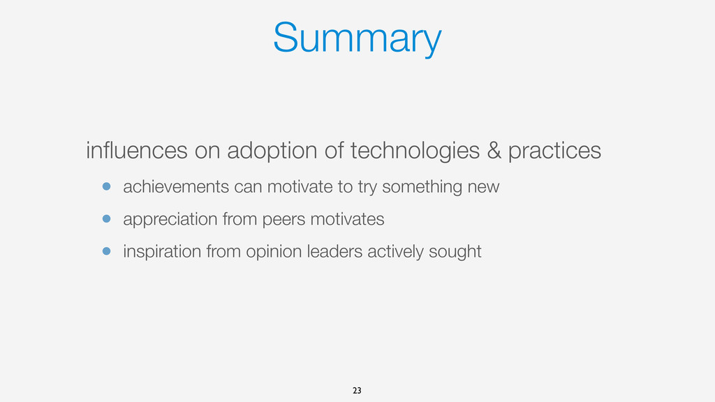 Summary influences on adoption of technologies &...