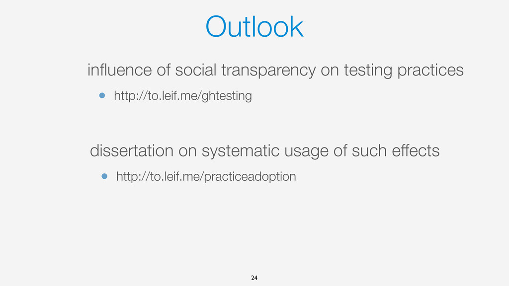 Outlook influence of social transparency on test...