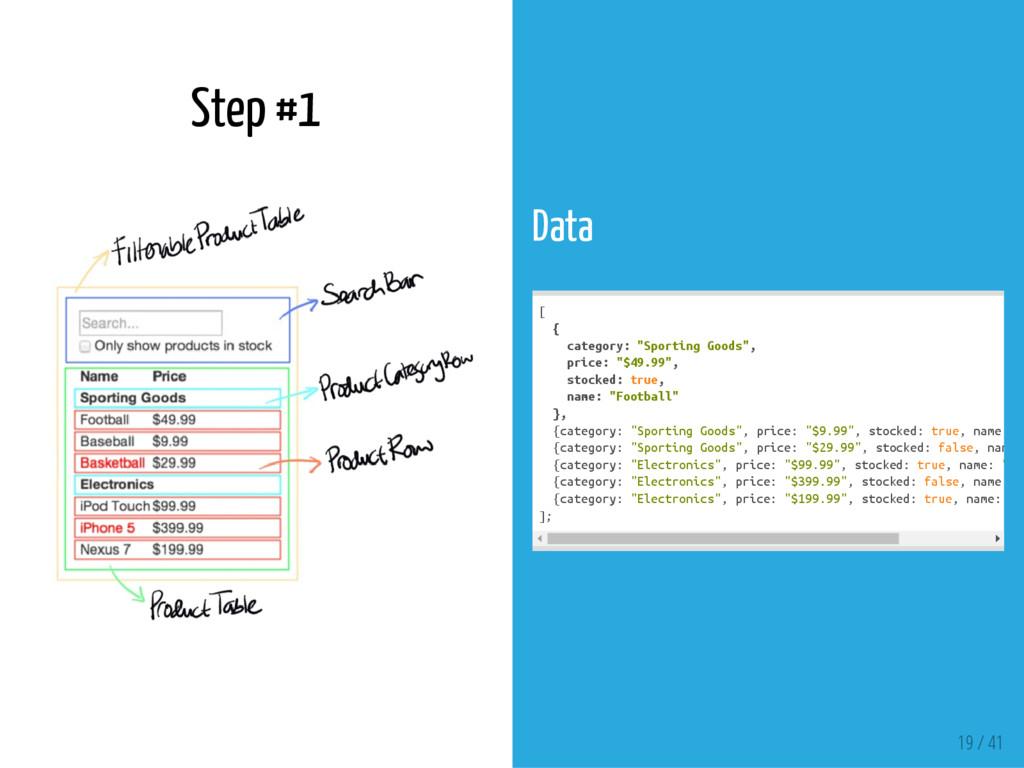 "Step #1 Data [ { c a t e g o r y : "" S p o r t ..."