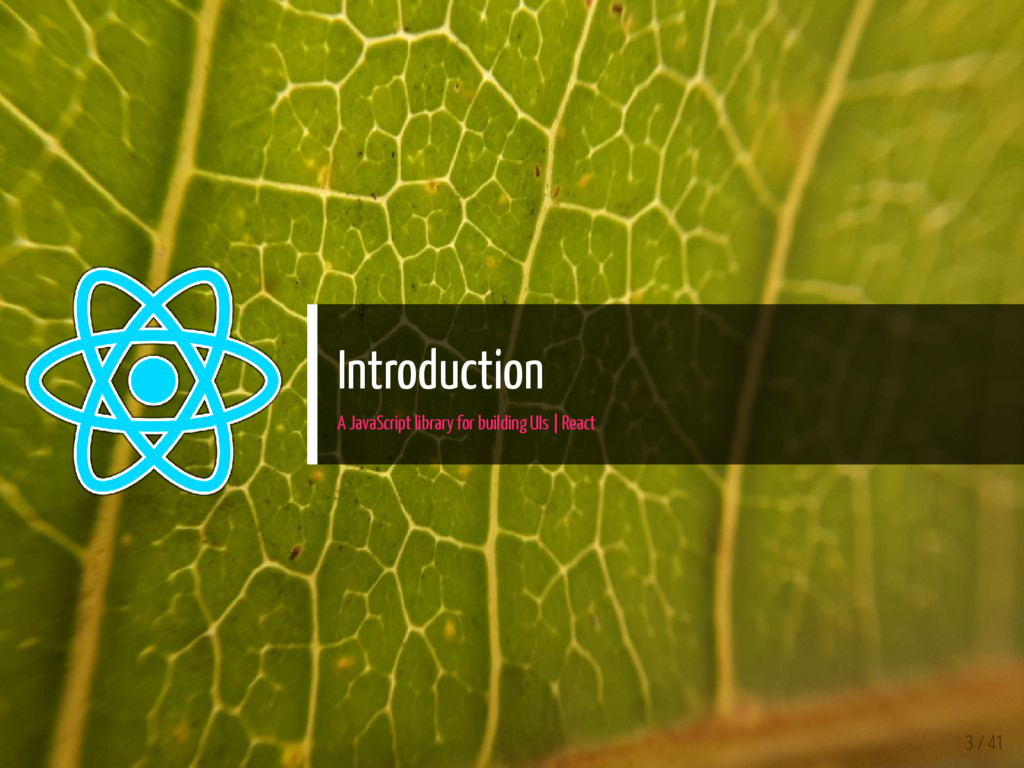 Introduction A JavaScript library for building ...