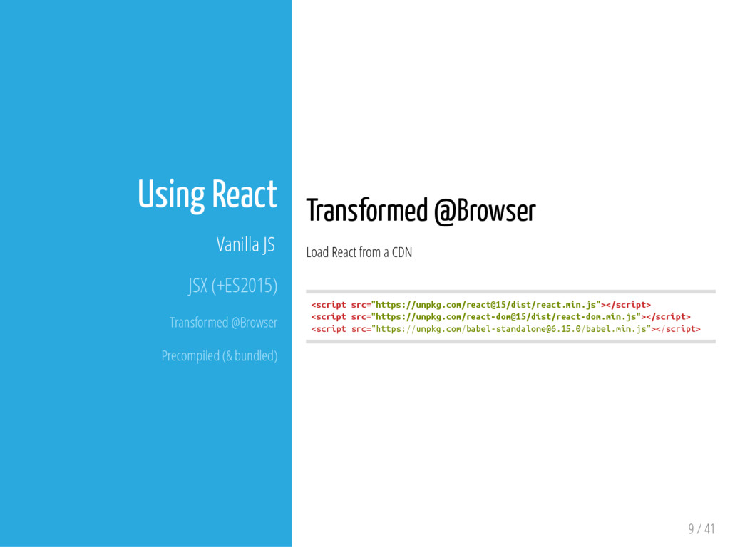 Transformed @Browser Load React from a CDN < s ...