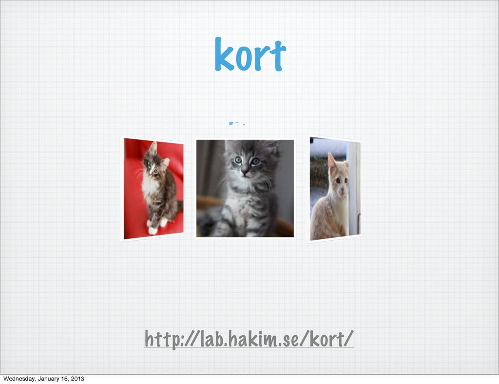kort http:/ /lab.hakim.se/kort/ Wednesday, Janu...