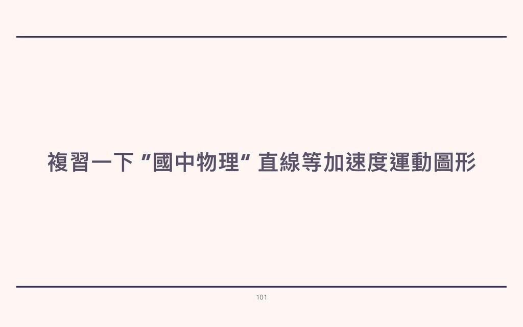 """複習⼀下 """"國中物理"""" 直線等加速度運動圖形 101"""