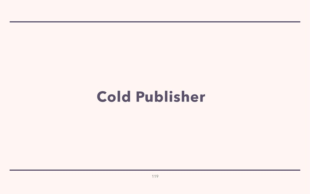 119 Cold Publisher