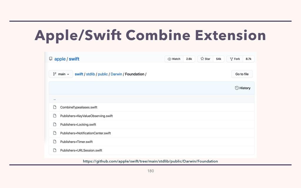 Apple/Swift Combine Extension 180 https://githu...
