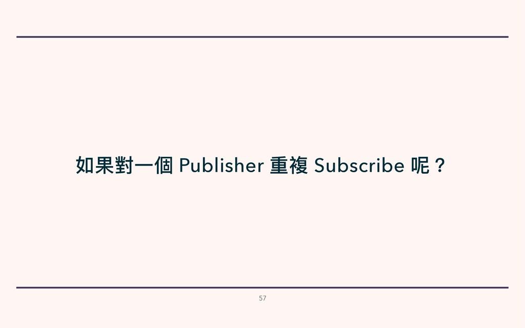 57 如果對⼀個 Publisher 重複 Subscribe 呢?