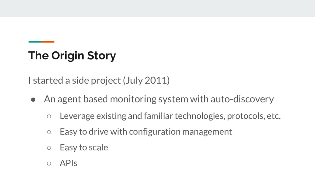 The Origin Story I started a side project (July...