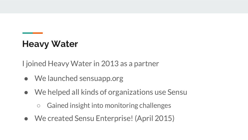 Heavy Water I joined Heavy Water in 2013 as a p...