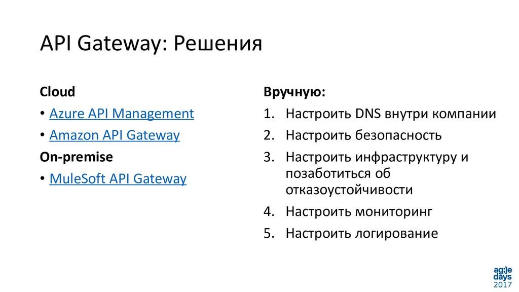 API Gateway: Решения Cloud • Azure API Manageme...