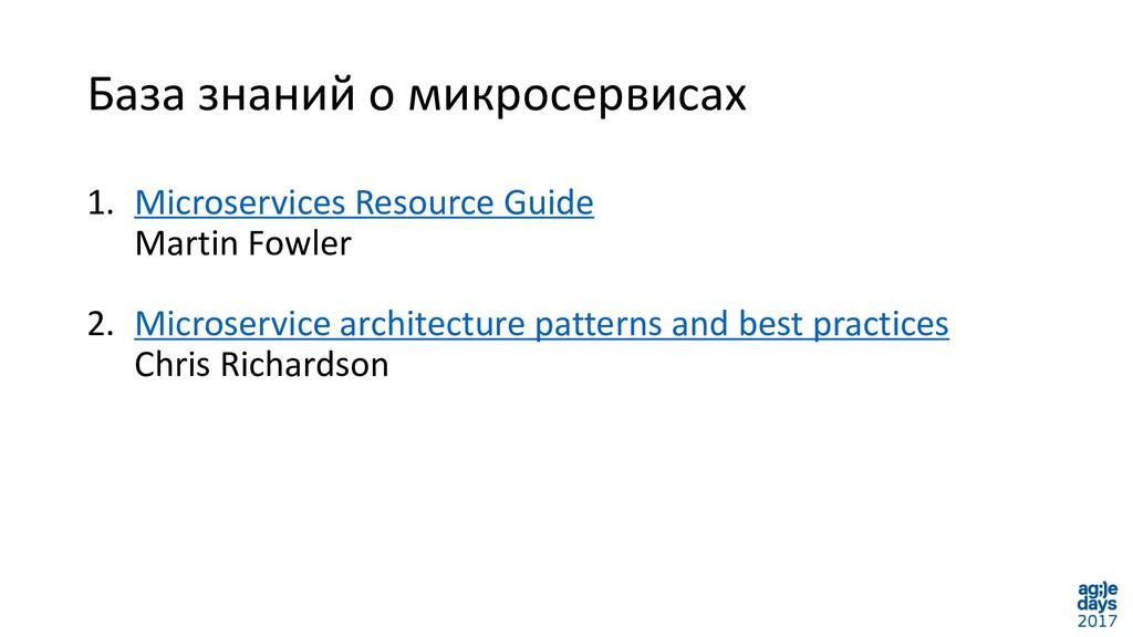 База знаний о микросервисах 1. Microservices Re...