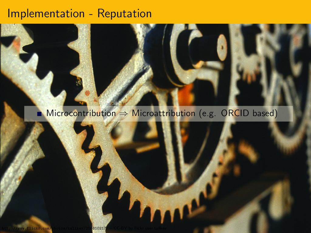 Implementation - Reputation Microcontribution ⇒...