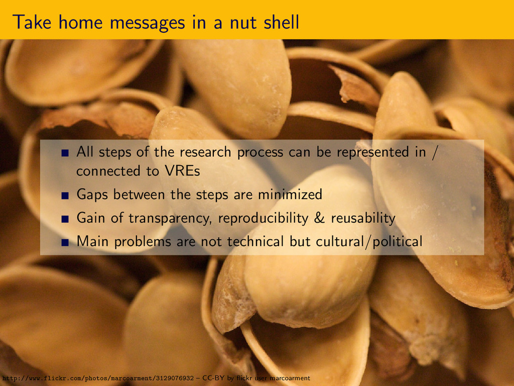 Take home messages in a nut shell All steps of ...