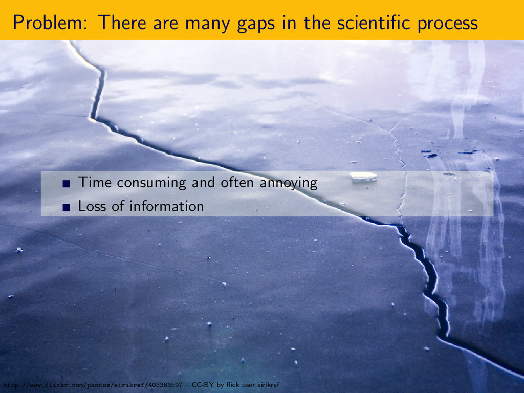 Problem: There are many gaps in the scientific p...