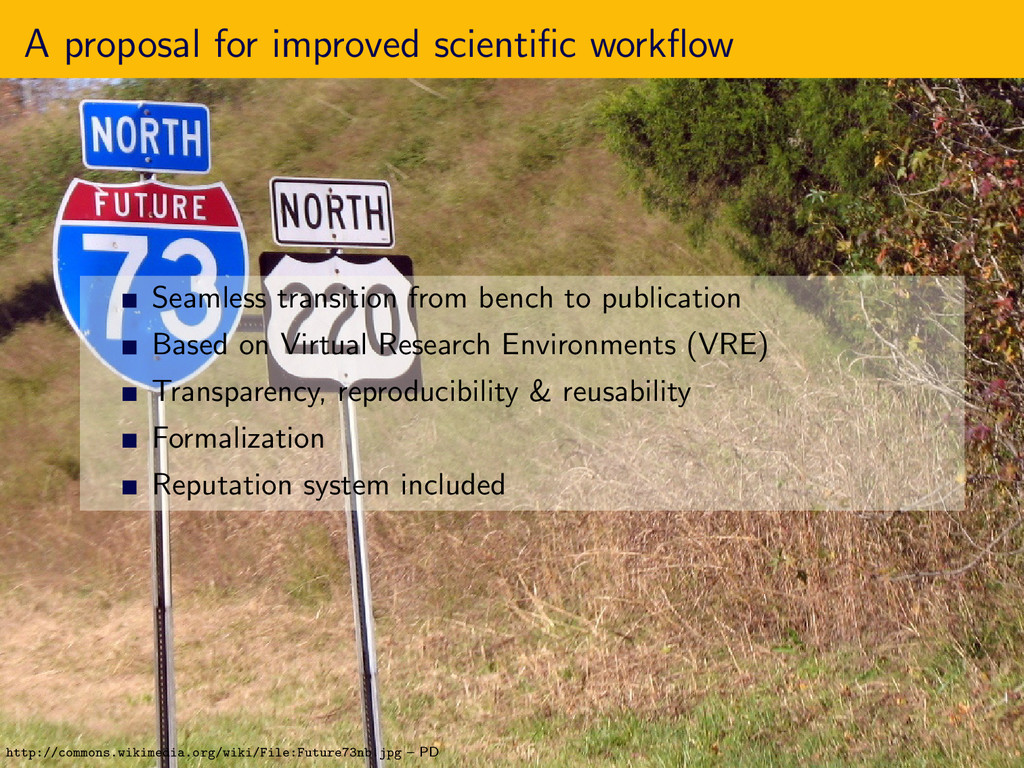 A proposal for improved scientific workflow Seaml...