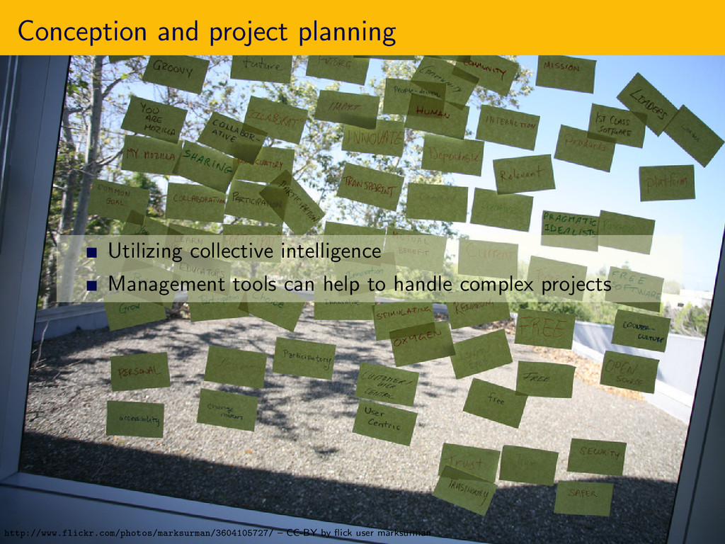 Conception and project planning Utilizing colle...