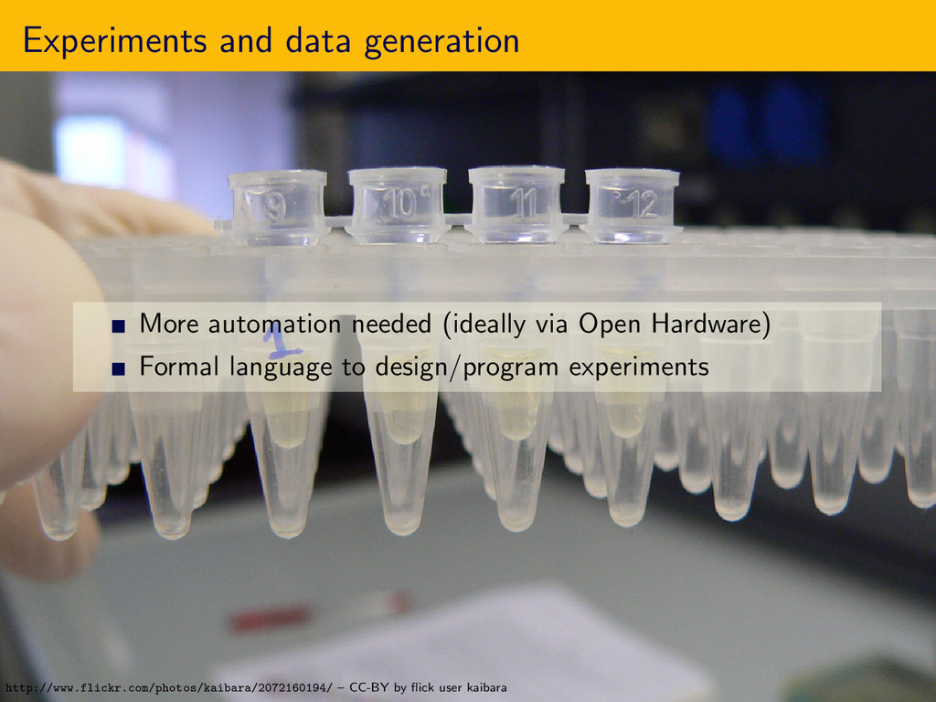 Experiments and data generation More automation...