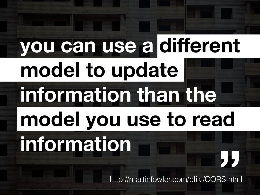 you can use a different model to update informat...