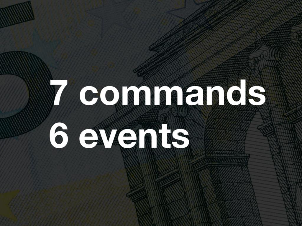 specyfikacja komenty enventy 7 commands 6 events