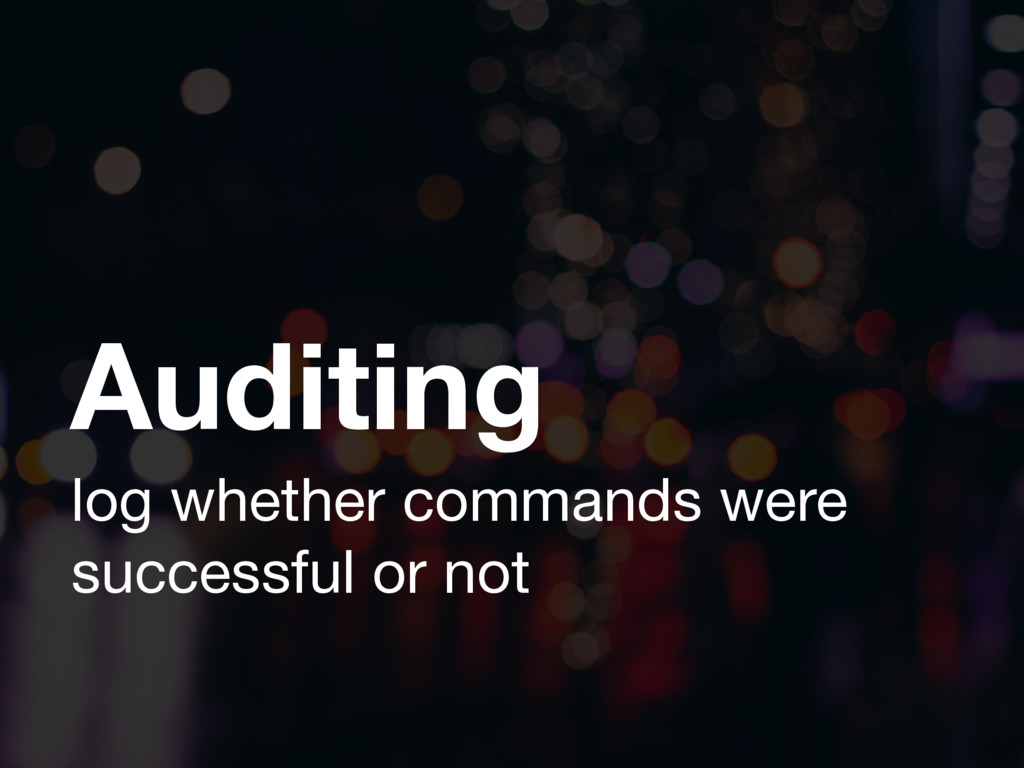 Auditing log whether commands were successful o...