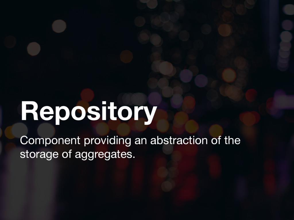 Repository Component providing an abstraction o...