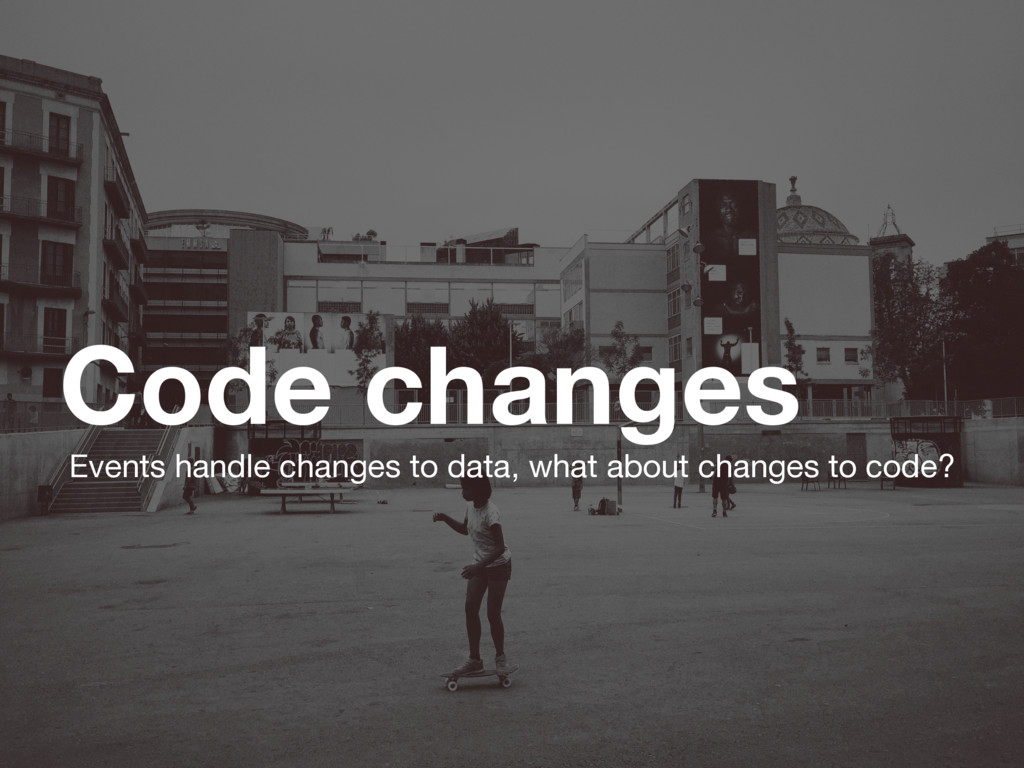 Code changes Events handle changes to data, wha...