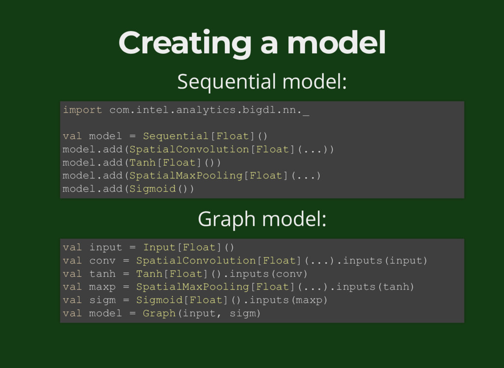 Creating a model Sequential model: Graph model:...