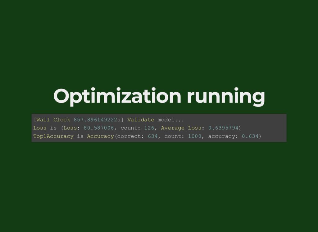 Optimization running [Wall Clock 857.896149222s...