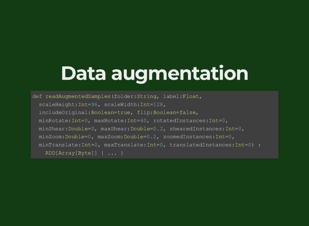 Data augmentation def readAugmentedSamples(fold...