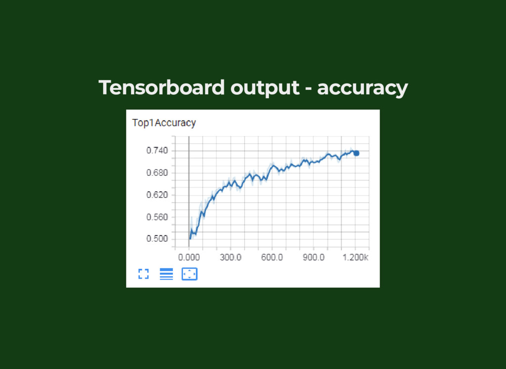 Tensorboard output - accuracy