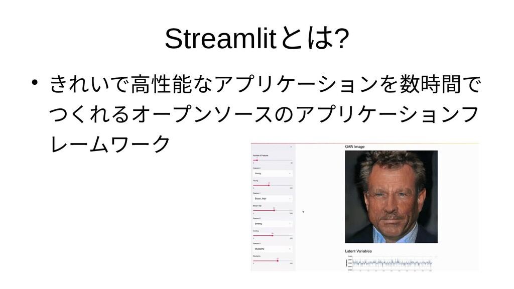 Streamlitとは? ● きれいアプリケーショで高性能なアプリケーシなアプリケーションをつ...
