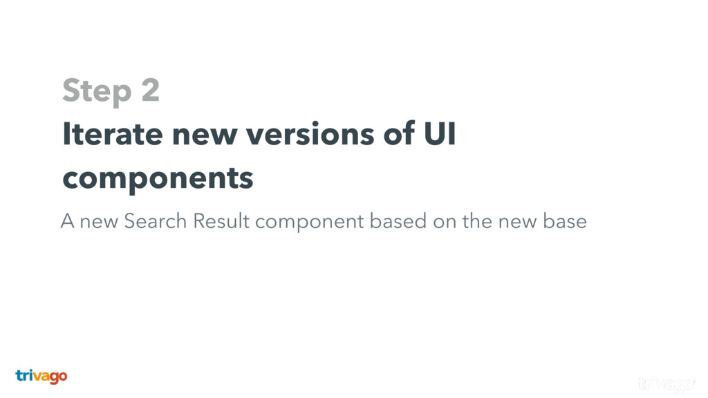 Step 2 Iterate new versions of UI components A ...