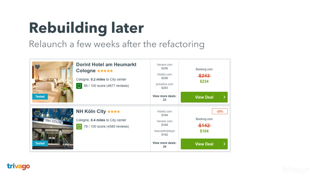 Rebuilding later Relaunch a few weeks after th...