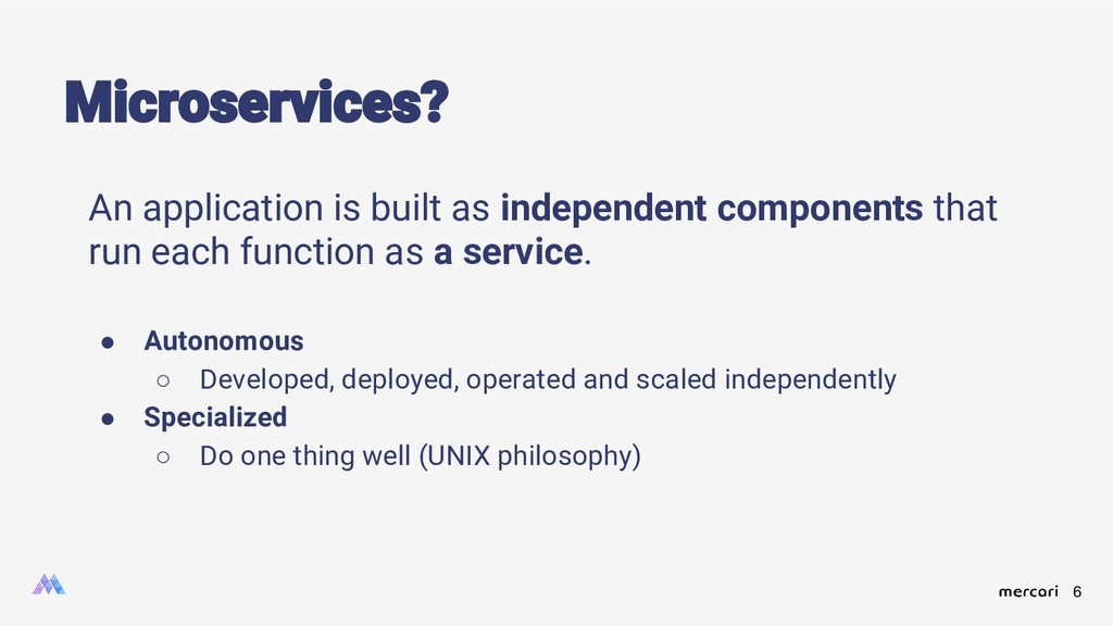 6 Microservices? An application is built as ind...
